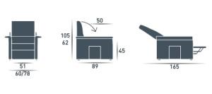 misure poltrona Cube